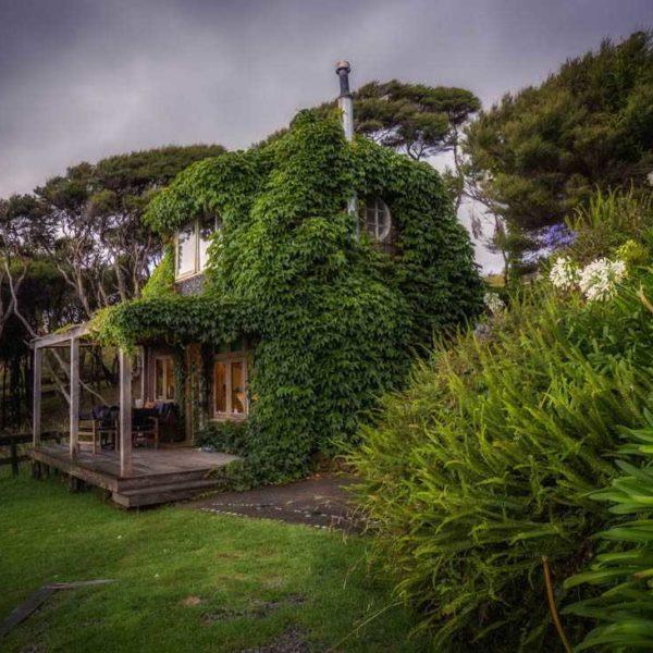 Ivy Cottage sea views accommodation Solscape Raglan